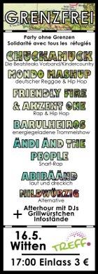[Plakat: Party ohne Grenzen]
