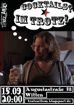 [Flyer: Cocktail-Abend im Trotz 2012-09-15
