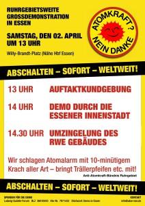 [Plakat: Ruhrgebietsweite Großdemonstration in Essen]