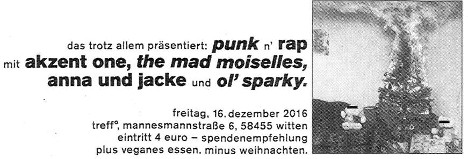 [Flyer: Punk'n'Rap
